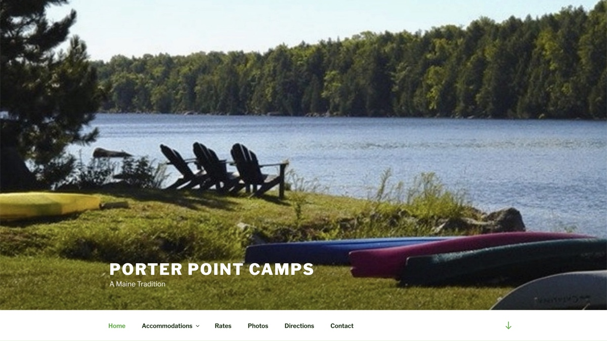 Image of Porter Point Camps Website